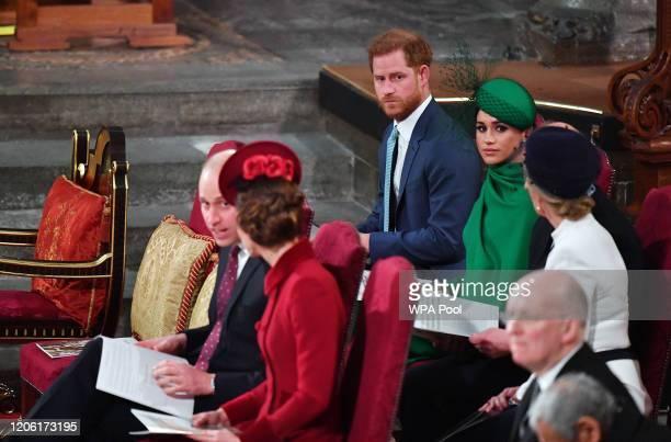 Prince William, Duke of Cambridge, Catherine, Duchess of Cambridge, Prince Harry, Duke of Sussex, Meghan, Duchess of Sussex, Prince Edward, Earl of...