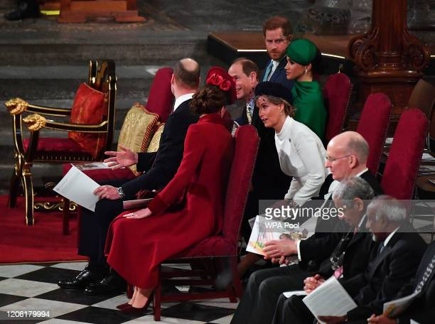 Prince William, Duke of Cambridge, Catherine, Duchess of Cambridge, Prince Harry, Duke of Sussex, Meghan, Duchess of Sussex, Prince Edward, Earl of...