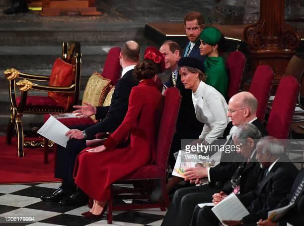 Prince William Duke of Cambridge Catherine Duchess of Cambridge Prince Harry Duke of Sussex Meghan Duchess of Sussex Prince Edward Earl of Wessex and...