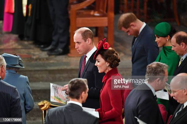 Prince William, Duke of Cambridge, Catherine, Duchess of Cambridge, Prince Harry, Duke of Sussex, Meghan, Duchess of Sussex and Prince Edward, Earl...