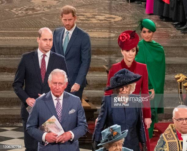 Prince William, Duke of Cambridge, Catherine, Duchess of Cambridge, Prince Harry, Duke of Sussex, Meghan, Duchess of Sussex, Prince Charles, Prince...