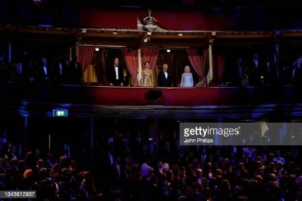 "Prince William, Duke of Cambridge, Catherine, Duchess of Cambridge, Prince Charles, Prince of Wales and Camilla, Duchess of Cornwall attend the ""No..."