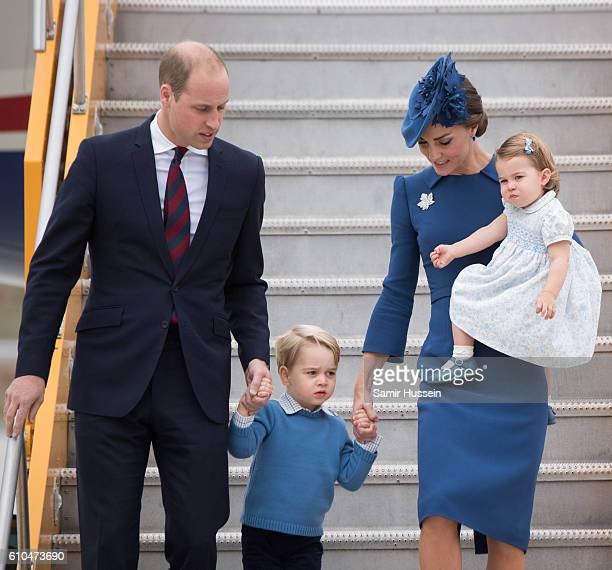 Prince William Duke of Cambridge Catherine Duchess of Cambridge Prince George of Cambridge and Princess Charlotte of Cambridge arrive at Victoria...