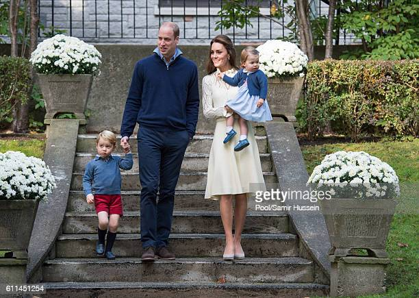 Prince William Duke of Cambridge Catherine Duchess of Cambridge Prince George of Cambridge and Princess Charlotte of Cambridge attend a children's...