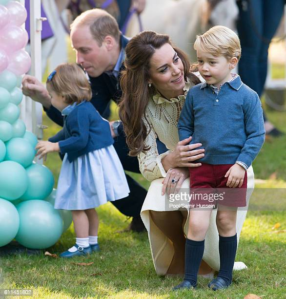 Prince William, Duke of Cambridge, Catherine, Duchess of Cambridge, Prince George of Cambridge and Princess Charlotte of Cambridge attend a...