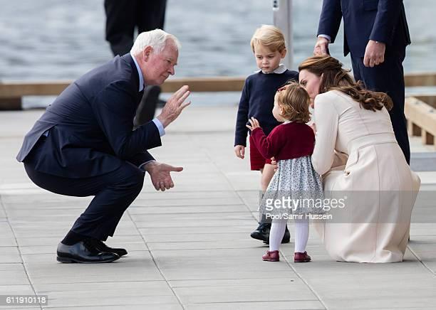 Prince William Duke of Cambridge Catherine Duchess of Cambridge Prince George of Cambridge and Princess Charlotte of Cambridge depart Victoria on...
