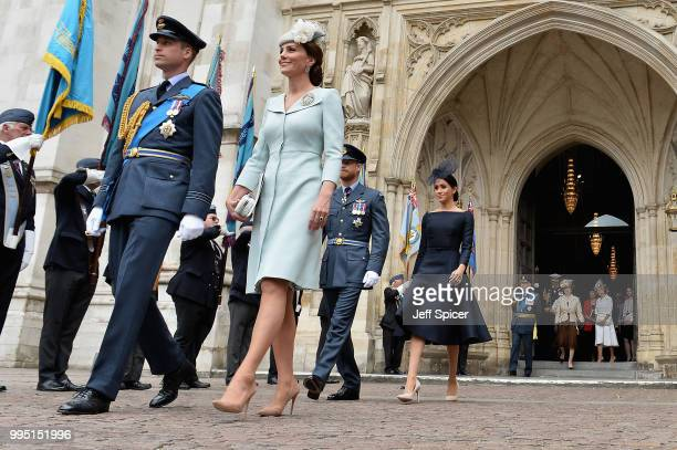 Prince William, Duke of Cambridge, Catherine, Duchess of Cambridge, Prince Harry, Duke of Sussex and Meghan, Duchess of Sussex attend as members of...