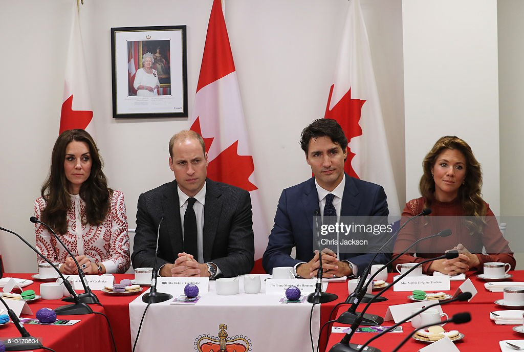 Prince William, Duke of Cambridge, Catherine, Duchess of Cambridge, Prime Minister Justin Trudeau and Sophie Gregoire-Trudeau visits the Canadian Coast Guard and Vancouver First Responders Event at Kitsilano Coastguard Station on September 25, 2016 in Vancouver, Canada. Prince William, Duke of Cambridge, Catherine, Duchess of Cambridge, Prince George and Princess Charlotte are visiting Canada as part of an eight day visit to the country taking in areas such as Bella Bella, Whitehorse and Kelowna