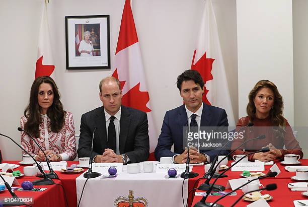 Prince William Duke of Cambridge Catherine Duchess of Cambridge Prime Minister Justin Trudeau and Sophie GregoireTrudeau visits the Canadian Coast...