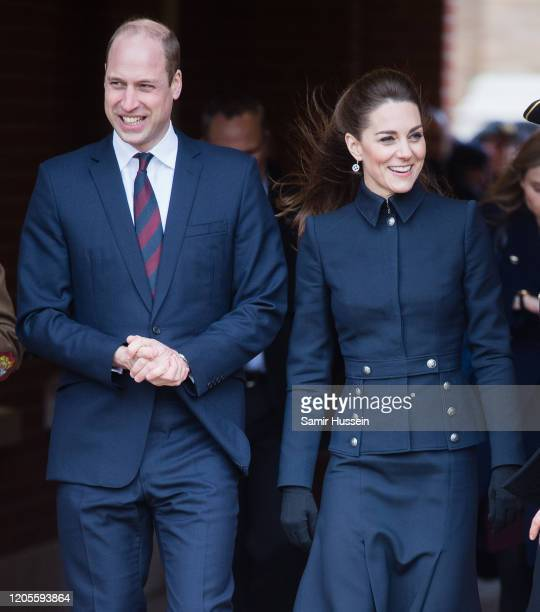 Prince William, Duke of Cambridge, Catherine, Duchess of Cambridge visit the Defence Medical Rehabilitation Centre Stanford Hall on February 11, 2020...