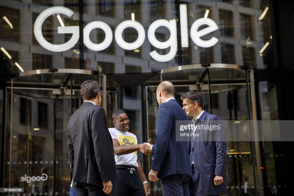 The Duke Of Cambridge Visits Google & YouTube To Launch National Action Plan To Tackle Cyberbullying : News Photo
