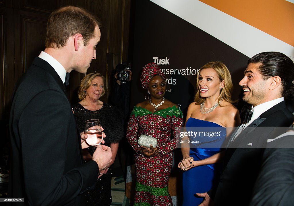 Prince William, Duke of Cambridge; Debra Meaden; Mary Molokwu; Katherine Jenkins; Andrew Levitas attend the annual Tusk Trust Conservation awards at Claridge's Hotel on November 24, 2015 in London, England.