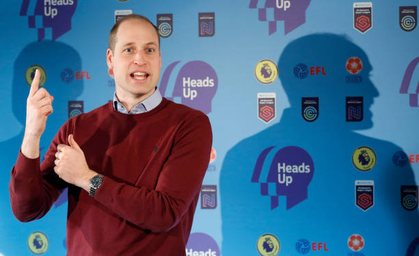 GBR: The Duke Of Cambridge Launches The Heads Up Weekends