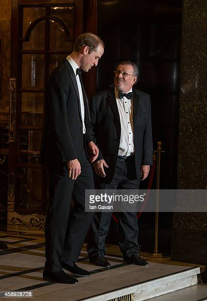 Prince William Duke of Cambridge departs after attending The Royal Variety Performance at the London Palladium on November 13 2014 in London England