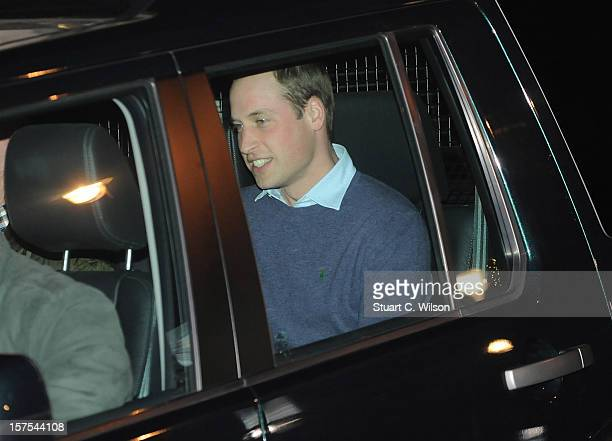 Prince William Duke of Cambridge departs the King Edward VII Private Hospital on December 4 2012 in London England Catherine Duchess of Cambridge...
