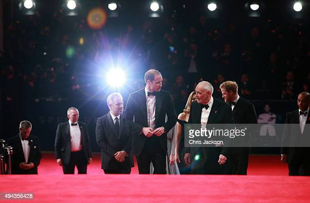 Prince William, Duke of Cambridge , director Sam Mendes , producer Michael G. Wilson and Prince Harry attend The Cinema and Television Benevolent...