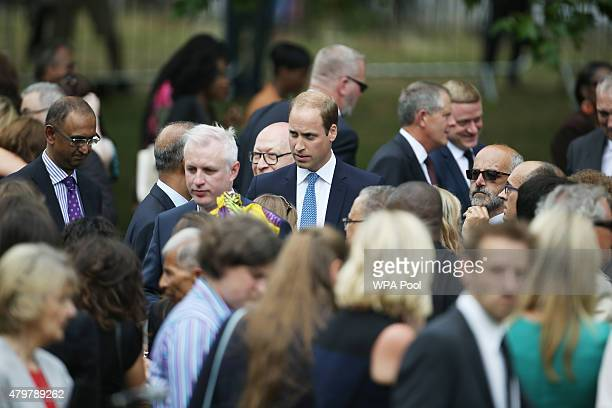 Prince William Duke of Cambridge during a service at the July 7 memorial in Hyde Park to commemorate the tenth anniversary of the London 7/7 bombings...