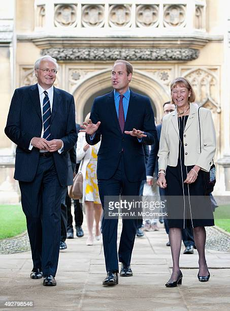 Prince William Duke of Cambridge during an official visit to open the School of Pythagoras Archive Centre at St John's College Cambridge University...