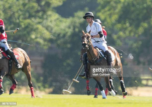 Prince William Duke of Cambridge during the Audi Polo Challenge Day 1 at Coworth Park Polo Club on June 30 2018 in Ascot England