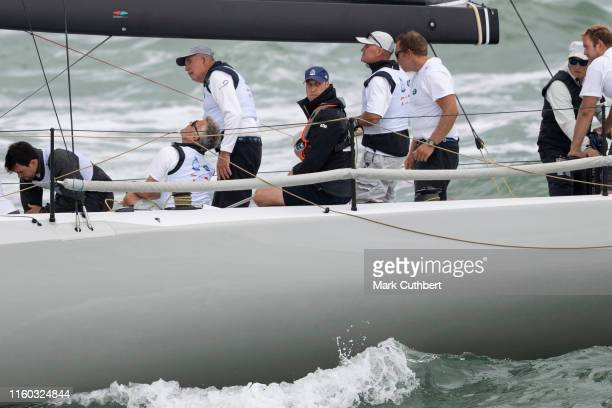 Prince William Duke of Cambridge during The Kings Cup Regatta on August 8 2019 in Cowes England