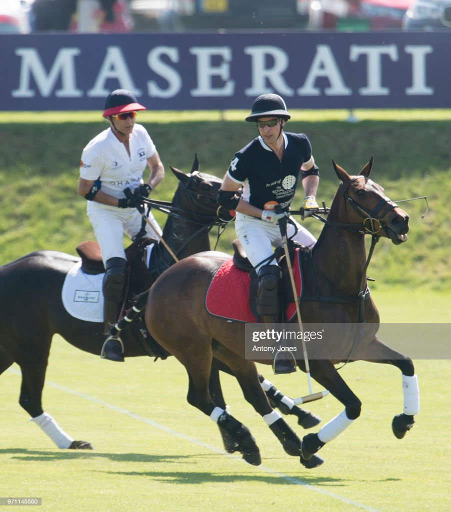 Prince William, Duke of Cambridge during the Maserati Royal Charity Polo Trophy at Beaufort Park on June 10, 2018 in Gloucester, England.