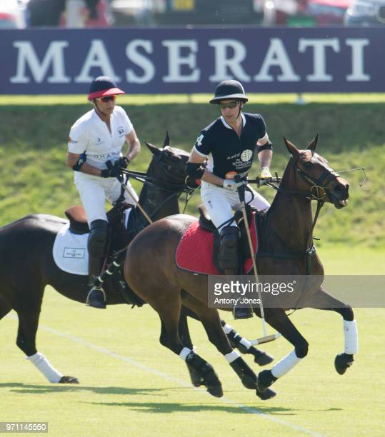 Prince William Duke of Cambridge during the Maserati Royal Charity Polo Trophy at Beaufort Park on June 10 2018 in Gloucester England