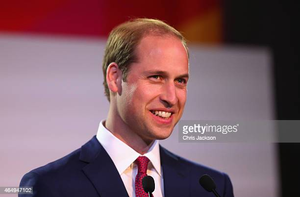 Prince William Duke of Cambridge gives a speech at the GREAT Festival of Creativity on March 2 2015 in Shanghai China Prince William Duke of...