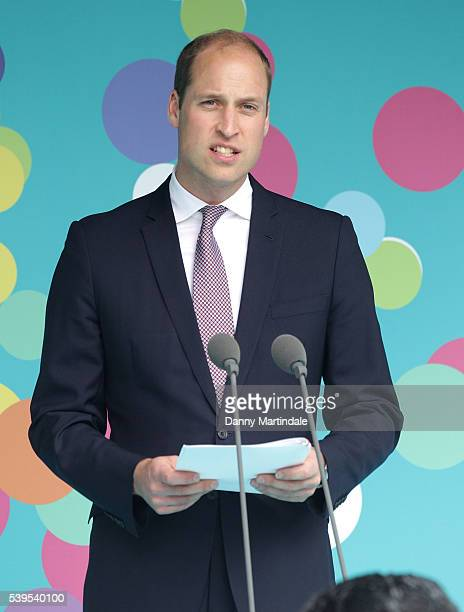 Prince William Duke of Cambridge gives a speech during 'The Patron's Lunch' celebrations for The Queen's 90th birthday at on June 12 2016 in London...