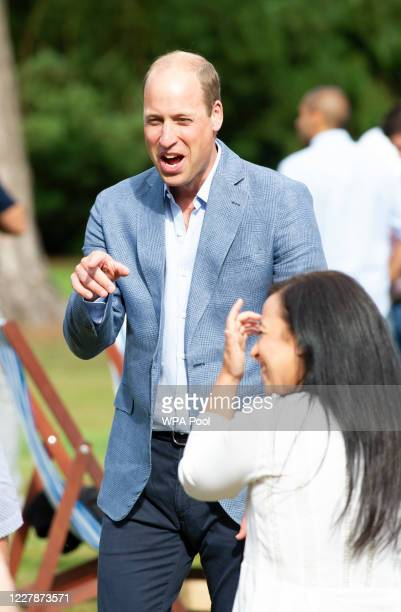 Prince William, Duke of Cambridge hosts an outdoor screening of the Heads Up FA Cup final on the Sandringham Estate on August 1, 2020 in King's Lynn,...