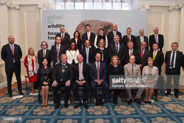 Prince William Duke Of Cambridge hosts the signing ceremony of United For Wildlife's Financial Taskforce Declaration at Mansion House on October 10...