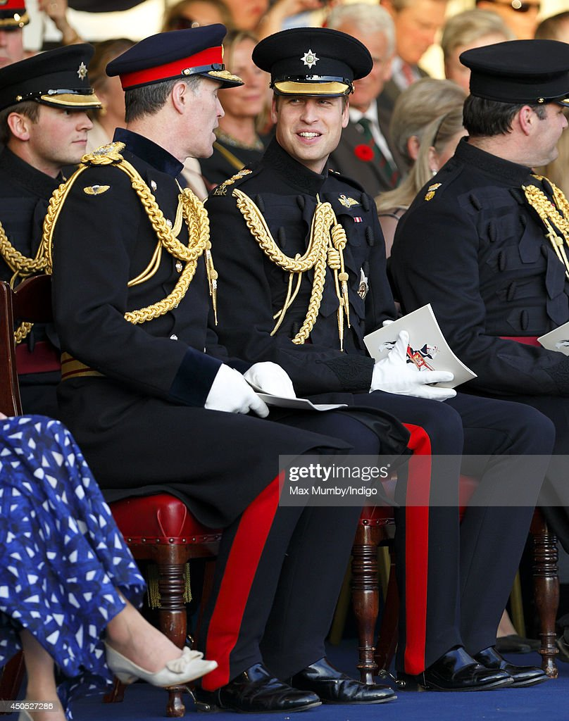 Prince William, Duke of Cambridge, in his role as Colonel of the Irish Guards, attends the Household Division's Beating Retreat on Horse Guards Parade on June 12, 2014 in London, England.