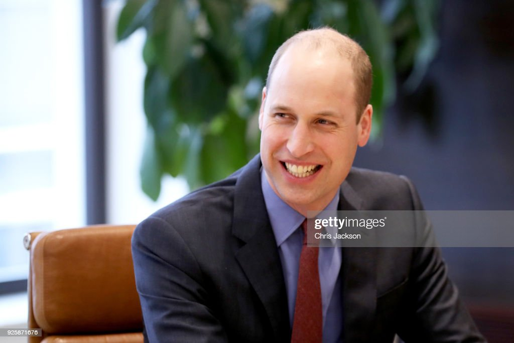 The Duke Of Cambridge Introduces New Workplace Mental Health Initiatives : News Photo