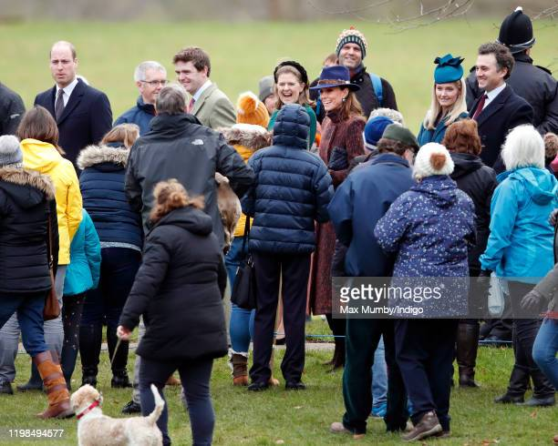 Prince William, Duke of Cambridge, James Meade, Lady Laura Meade, Catherine, Duchess of Cambridge, Lucy Lanigan-O'Keeffe and Thomas van Straubenzee...