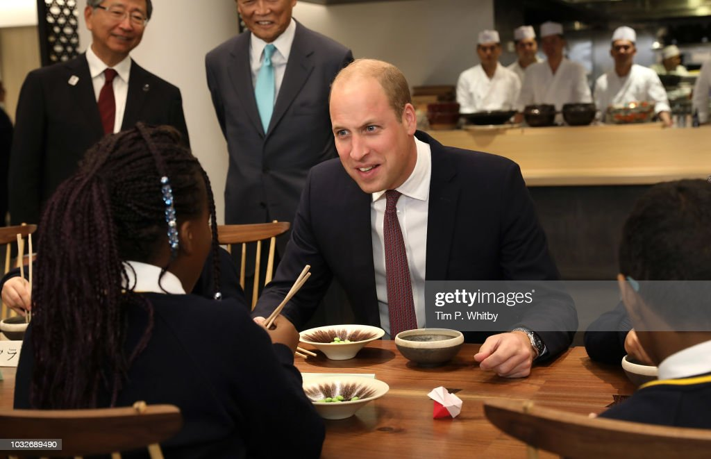 The Duke Of Cambridge Attends The Grand Opening Of Japan House London