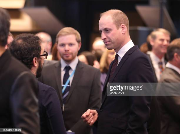 Prince William Duke of Cambridge known as the Duke of Strathearn when in Scotland during a visit to officially open the VA Dundee Scotland's first...