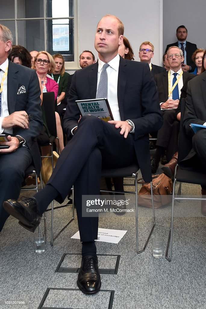 The Duke Of Cambridge Launches 'Mental Health At Work' Initiative