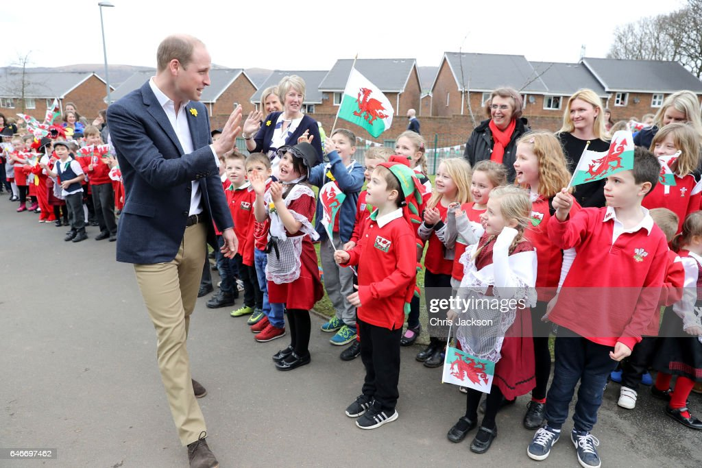 Prince William, Duke of Cambridge launches the new Prince William Award with SkillForce on March 1, 2017 in Abergavenny, Wales.