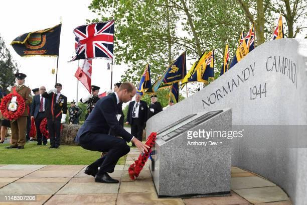 Prince William Duke Of Cambridge lays a wreath at The National Memorial Arboretum on June 06 2019 in Alrewas Staffordshire The Duke of Cambridge will...