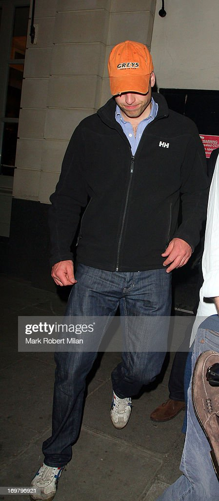 Prince William Duke of Cambridge leaving Tonteria night club on June 1, 2013 in London, England.