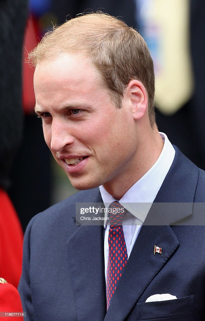 Prince William, Duke of Cambridge looks on as he attends a Freedom of the City Ceremony outside City Hall on July 3, 2011 in Quebec, Canada. The newly married Royal Couple are on the fourth day of their first joint overseas tour. The 12 day visit to North America will take in some of the more remote areas of the country such as Prince Edward Island, Yellowknife and Calgary. The Royal couple started off their tour by joining millions of Canadians in taking part in Canada Day celebrations which mark Canada's 144th Birthday.