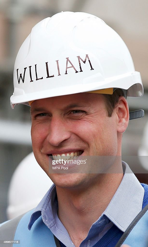 Prince William, Duke of Cambridge looks on as he helps to renovate homes for ex-service personnel as part of the BBC television DIY SOS series on September 23, 2015 in Manchester, England. Prince William and Prince Harry visited Manchester on Wednesday where they helped to renovate homes for ex-service personnel as part of the BBC television DIY SOS series.