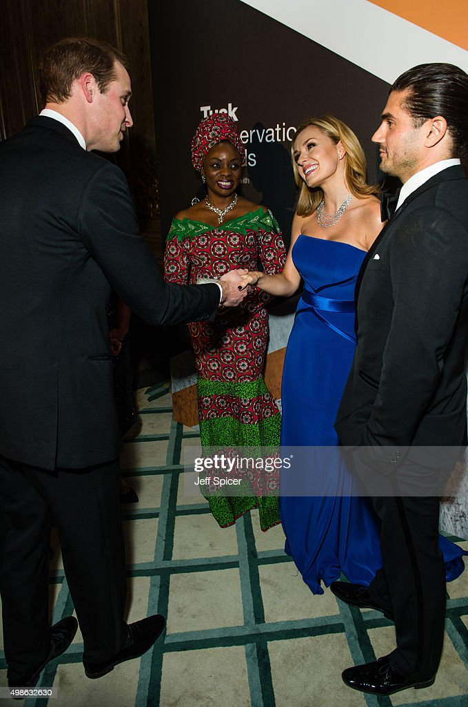 Prince William, Duke of Cambridge; Mary Molokwu; Katherine Jenkins; Andrew Levitas attend the annual Tusk Trust Conservation awards at Claridge's Hotel on November 24, 2015 in London, England.