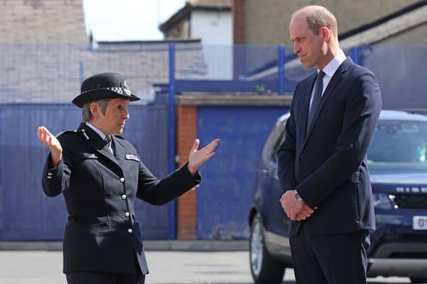GBR: The Duke of Cambridge Visits Croydon Custody Centre
