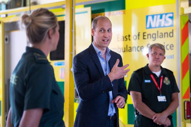 GBR: The Duke Of Cambridge Visits The Kings Lynn Ambulance Station