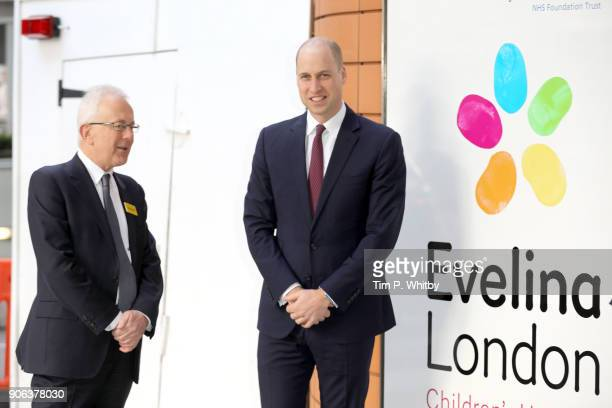 Prince William Duke of Cambridge meets with Sir Hugh Taylor Chairman of Guy's and St Thomas' NHS Foundation Trust as he launches a nationwide...