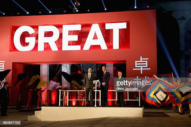 Prince William Duke of Cambridge opens the GREAT Festival of Creativity at the Long Museum on March 2 2015 in Shanghai China Prince William Duke of...