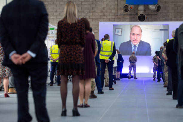 GBR: The Duke Of Cambridge Opens The New NHS Nightingale Hospital In Birmingham