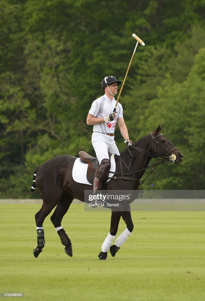 Prince William, Duke of Cambridge, plays during day two of the Audi Polo Challenge at Coworth Park on May 31, 2015 in London, England.