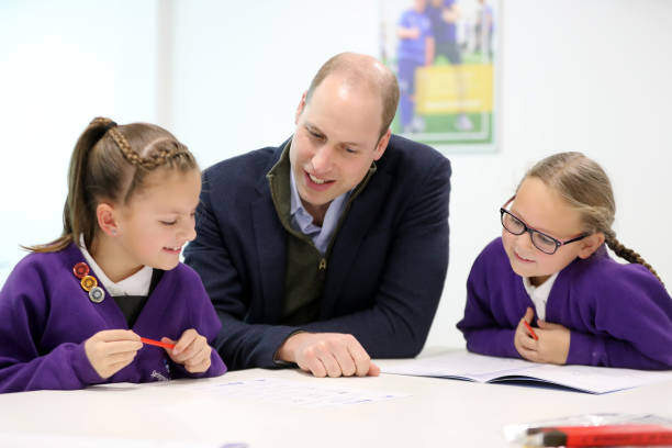 GBR: The Duke Of Cambridge Visits Everton In The Community