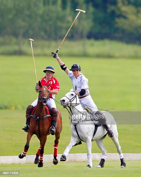 Prince William Duke of Cambridge plays in the Audi Polo Challenge at Coworth Park Polo Club on June 1 2014 in Ascot England